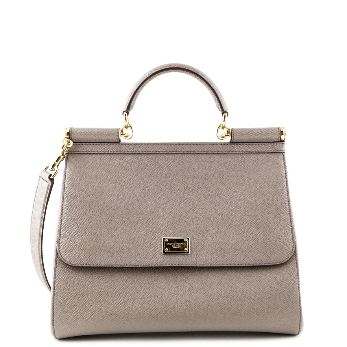 Dolce   Gabbana Taupe Saffiano Large Sicily - LOVE that BAG - Preowned  Authentic Designer Handbags ... eaafb1882bd8c
