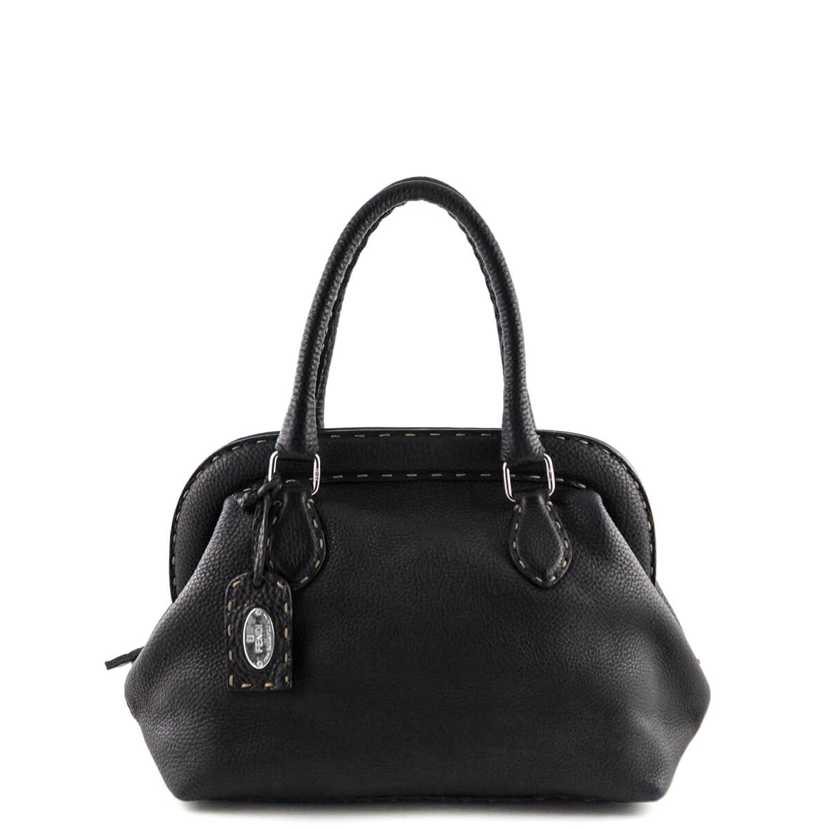 6476d39960 Fendi Black Selleria Adele Frame Bag - LOVE that BAG - Preowned Authentic  Designer Handbags ...