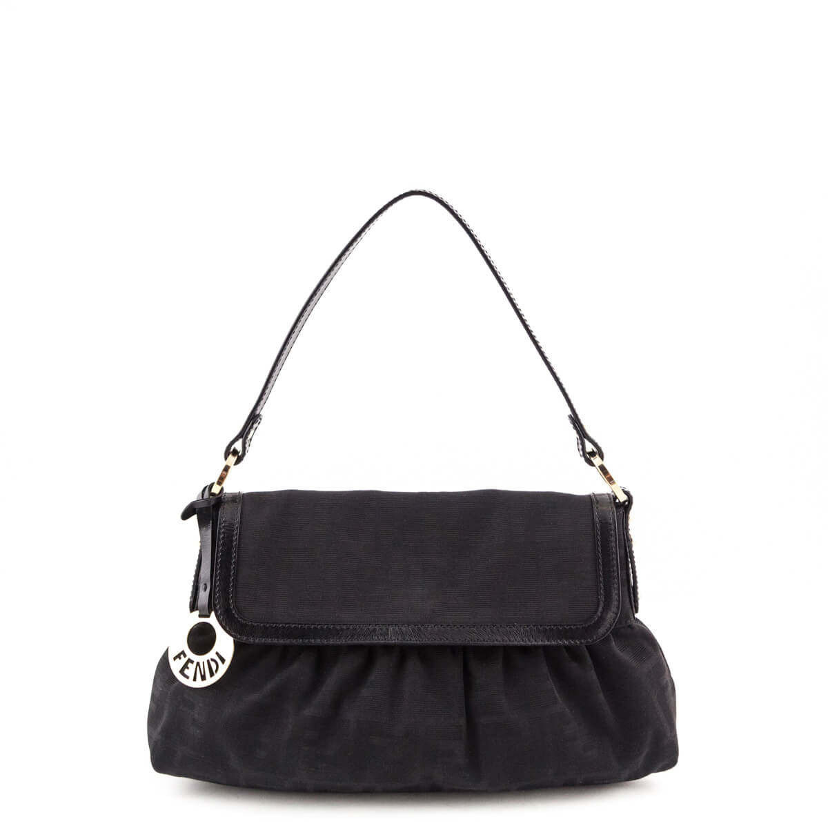 f91663009ac4 Fendi Black Zucca Chef Shoulder Bag - LOVE that BAG - Preowned Authentic  Designer Handbags ...