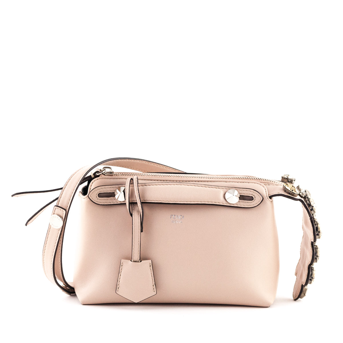 a5af9a4f87 Fendi Blush Calfskin Mini By The Way with Crystal Tail Crossbody - LOVE  that BAG ...