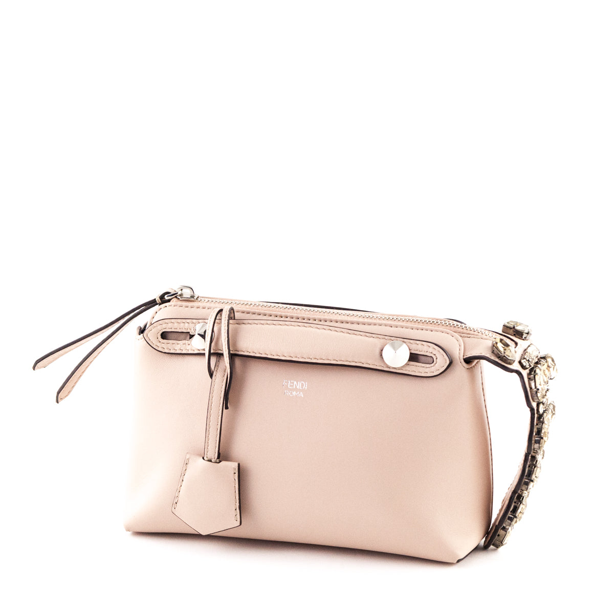 4b83a8edc2 ... Fendi Blush Calfskin Mini By The Way with Crystal Tail Crossbody - LOVE  that BAG ...