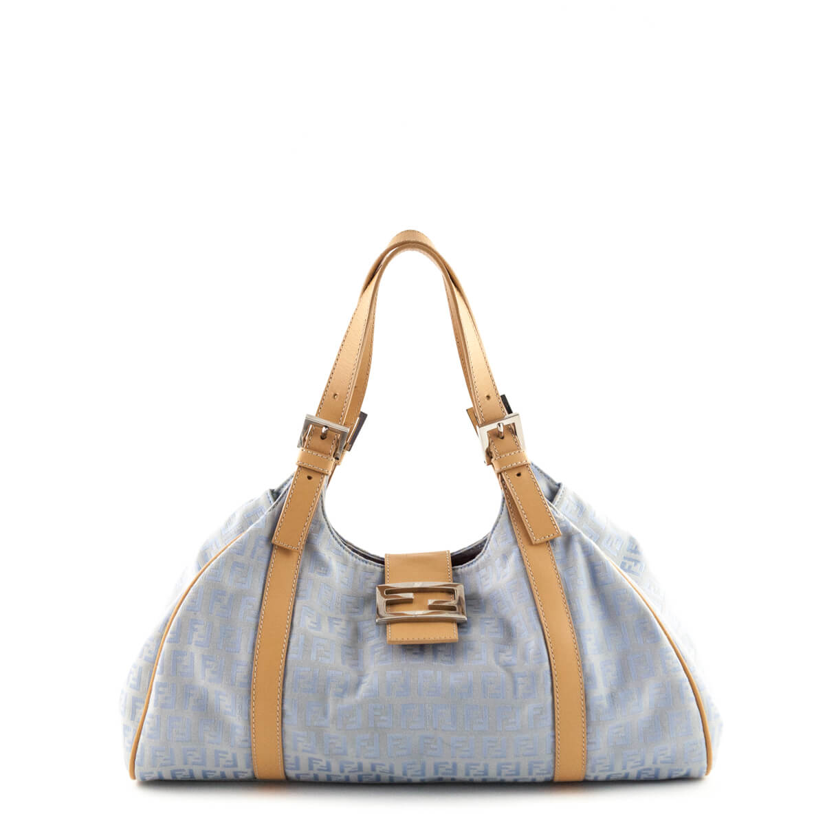 5df48ad88b6b Fendi Celeste Naturale Zucca Canvas Shoulder Bag - LOVE that BAG - Preowned  Authentic Designer Handbags ...