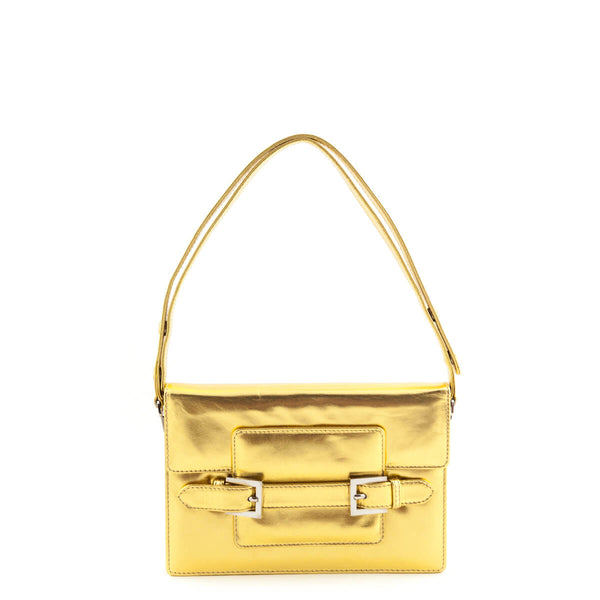 85f9517d0818 Fendi Gold Metallic Baguette Shoulder Bag - LOVE that BAG - Preowned  Authentic Designer Handbags