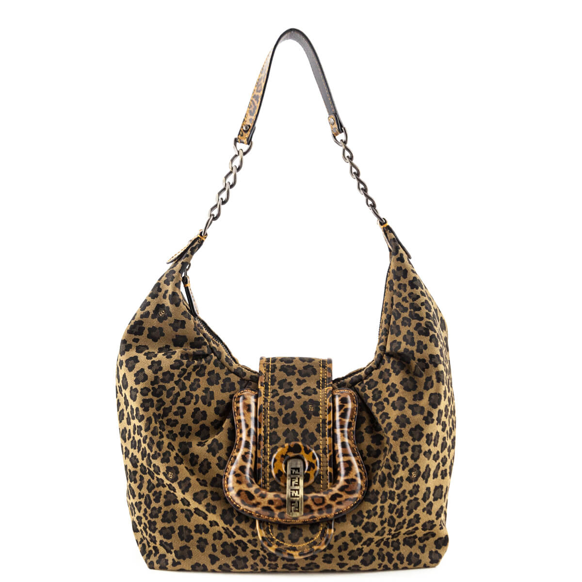 Fendi Leopard Canvas B. Hobo bag - LOVE that BAG - Preowned Authentic  Designer Handbags ... 56155e383679b
