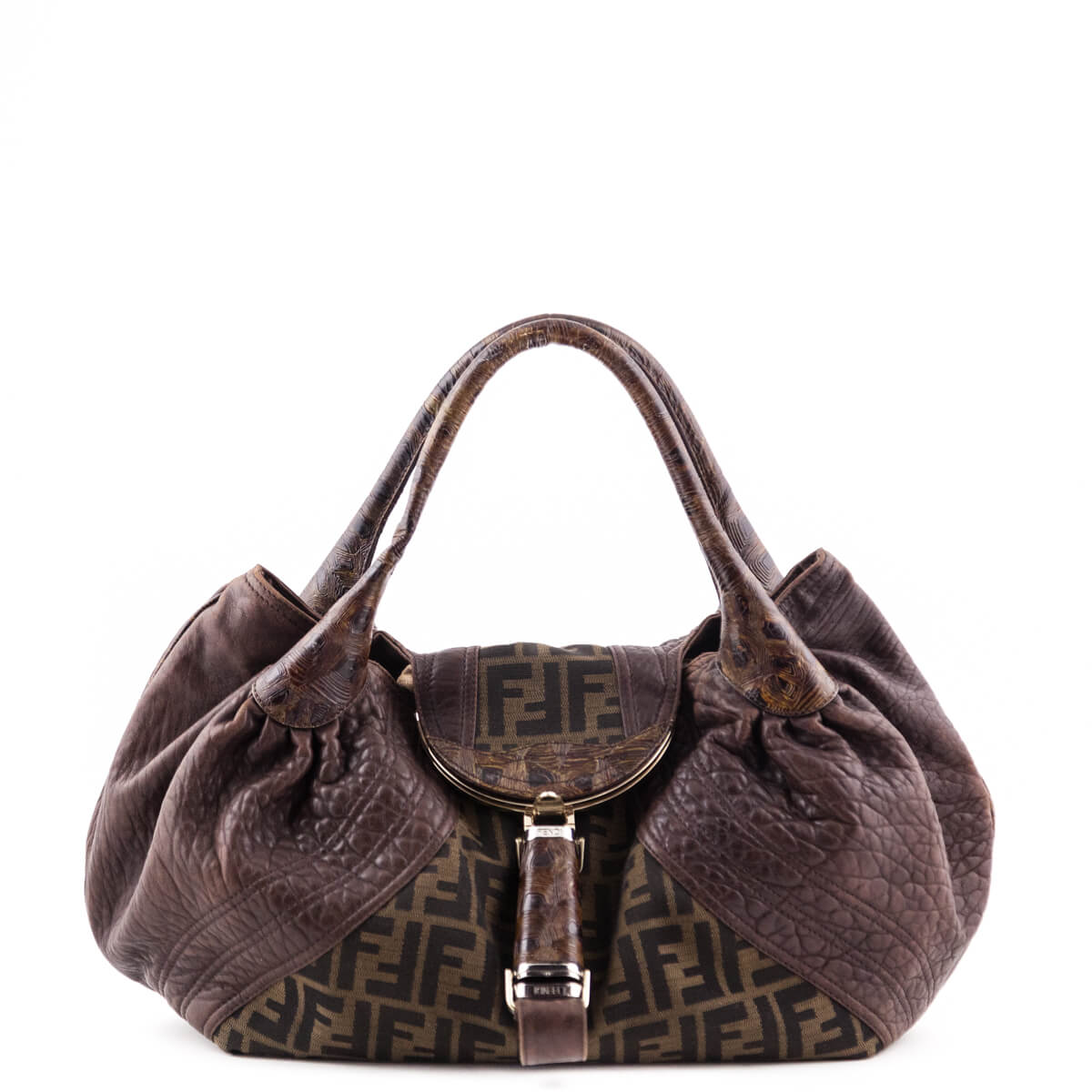 f9f5297d5a Fendi Monogram Canvas   Leather Spy Bag - LOVE that BAG - Preowned  Authentic Designer Handbags ...