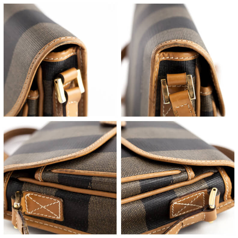 f8fd9c542d ... wholesale vintage fendi striped canvas crossbody bag fendi bags vintage  61e24 8df75