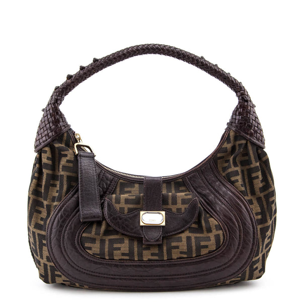 210b3563cb Fendi Tobacco Zucca Spy Hobo Shoulder Bag - LOVE that BAG - Preowned  Authentic Designer Handbags