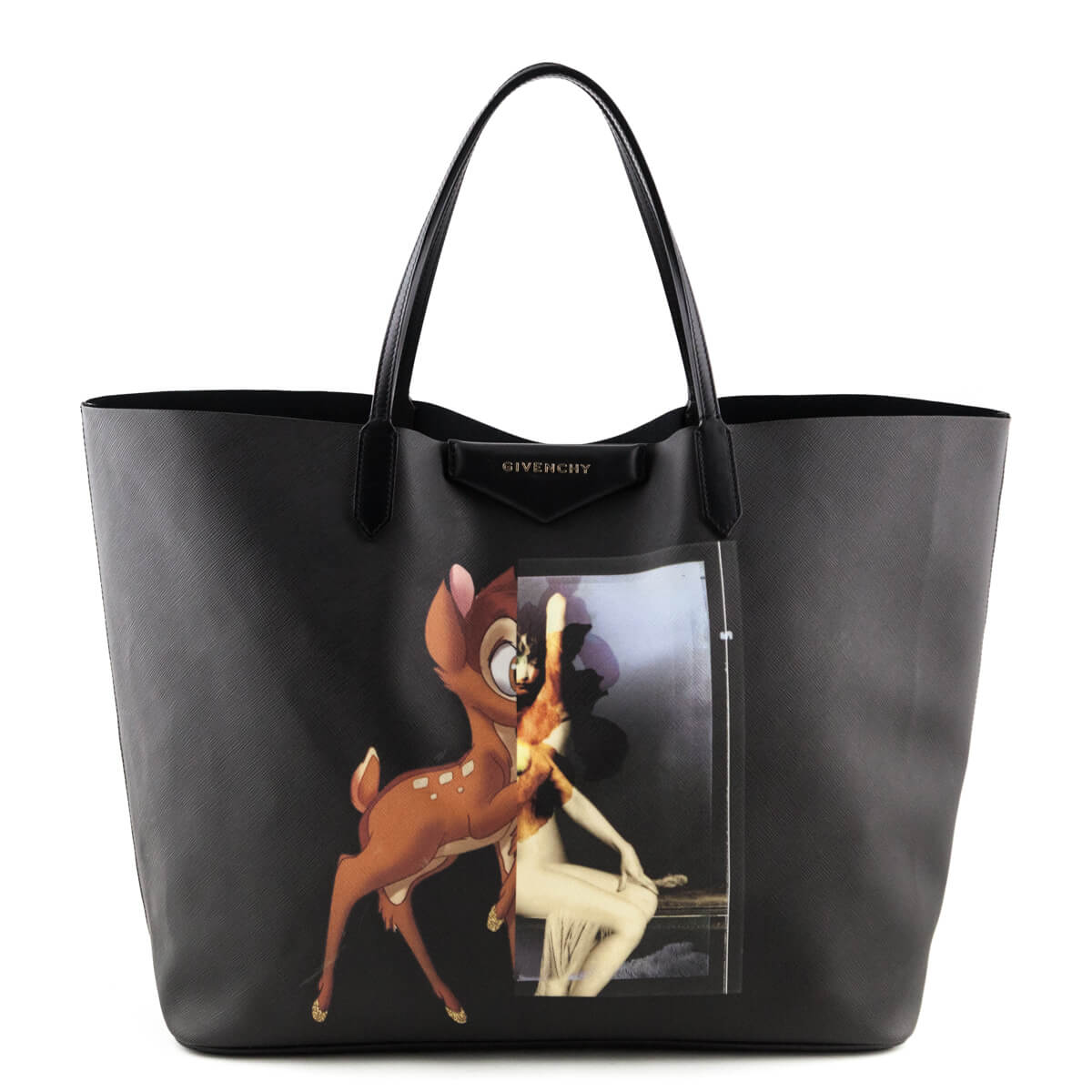 3cf3ddf4b64e Givenchy Black Coated Canvas Bambi Podium Antigona Tote - LOVE that BAG -  Preowned Authentic Designer ...