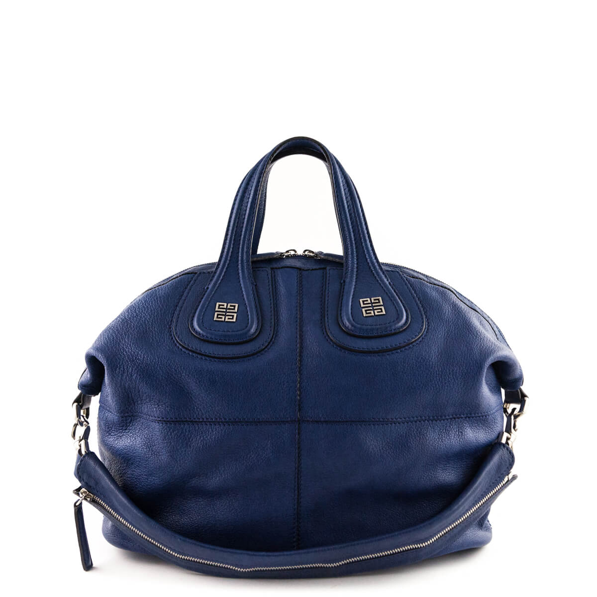 cc5547ada881 Givenchy Blue Goatskin Medium Nightingale - LOVE that BAG - Preowned  Authentic Designer Handbags ...