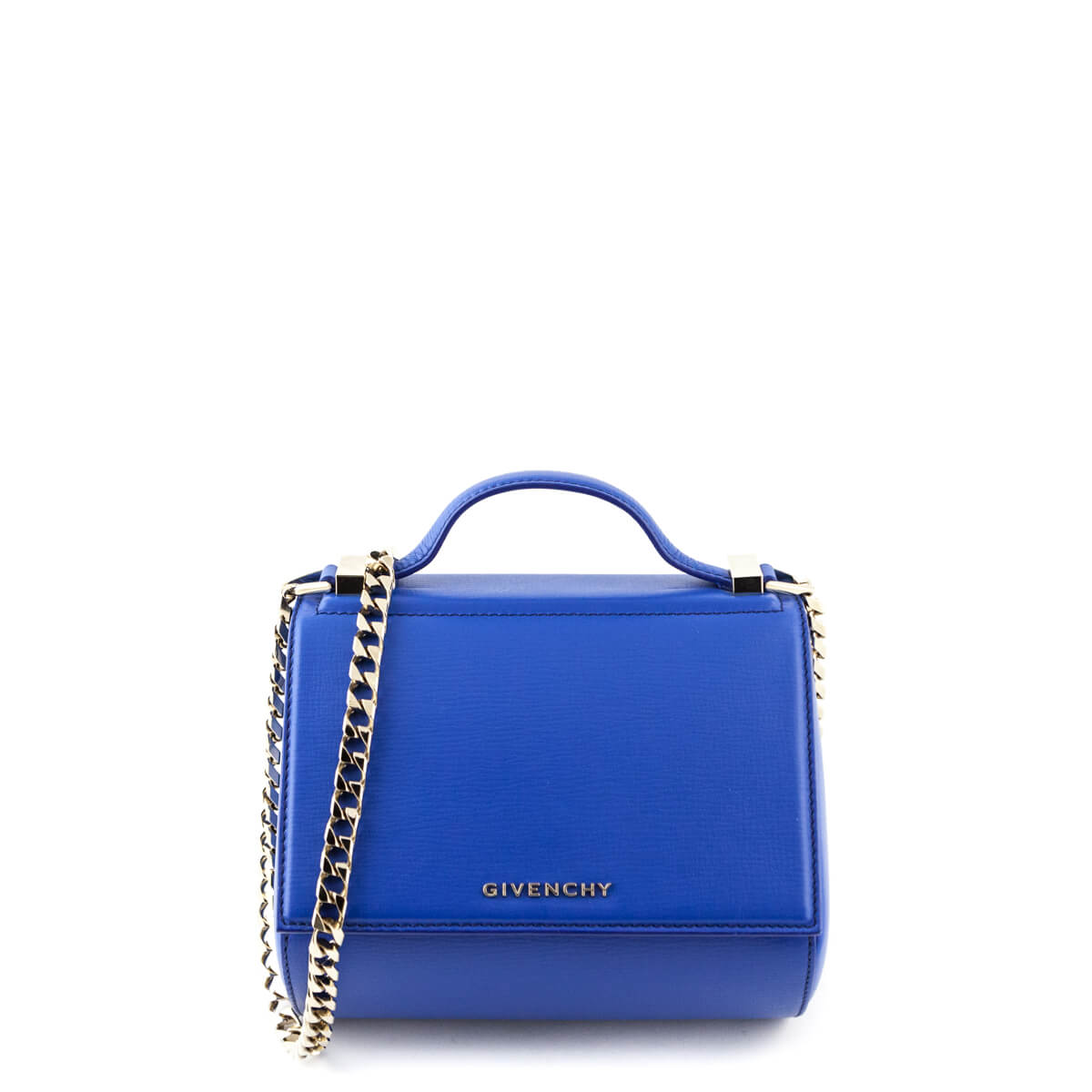 64041bd9695b Givenchy Indigo Blue Calfskin Mini Pandora Box Shoulder Bag - LOVE that BAG  - Preowned Authentic ...