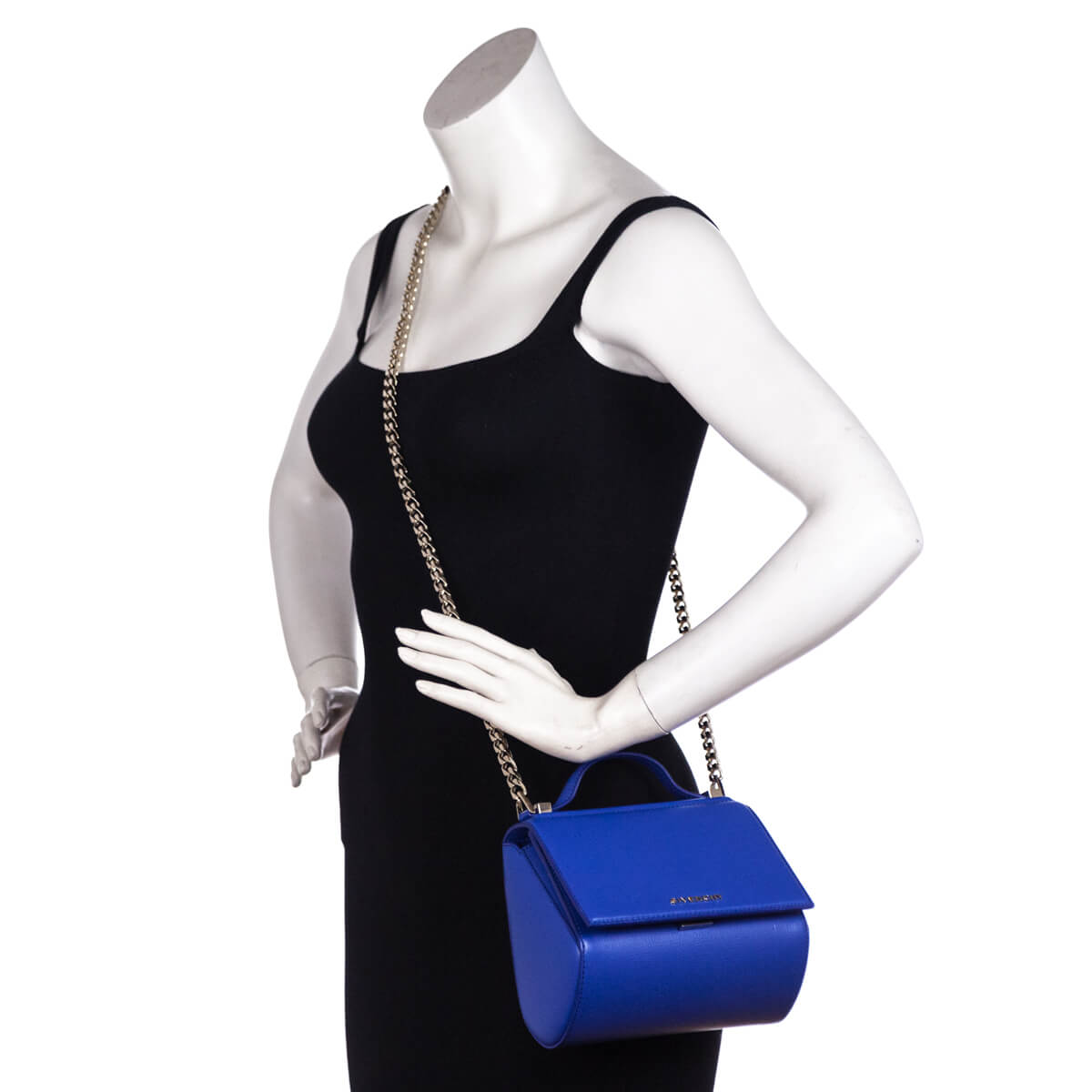 27d7289e0f61 ... Givenchy Indigo Blue Calfskin Mini Pandora Box Shoulder Bag - LOVE that  BAG - Preowned Authentic