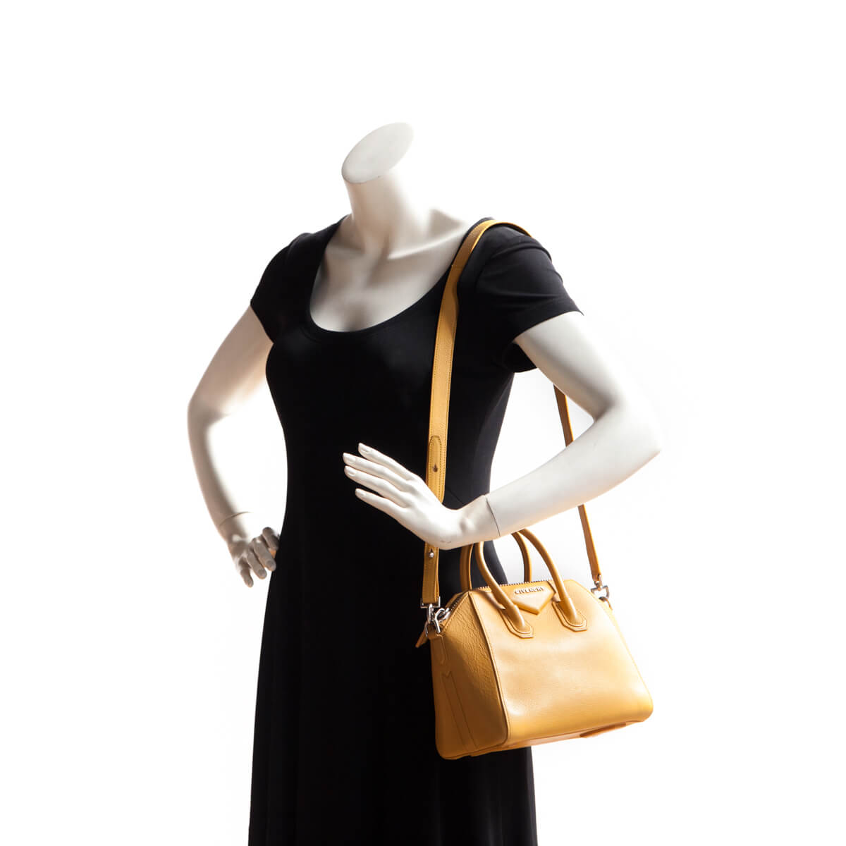9fcba27b9d20 ... Givenchy Mustard Goatskin Mini Antigona - LOVE that BAG - Preowned  Authentic Designer Handbags ...
