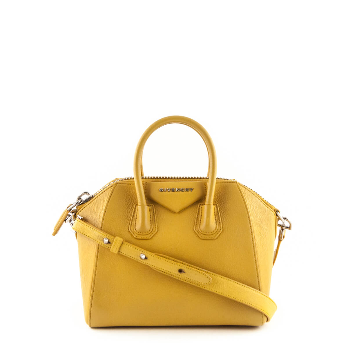 c2feedf31db8 Givenchy Mustard Goatskin Mini Antigona - LOVE that BAG - Preowned  Authentic Designer Handbags ...