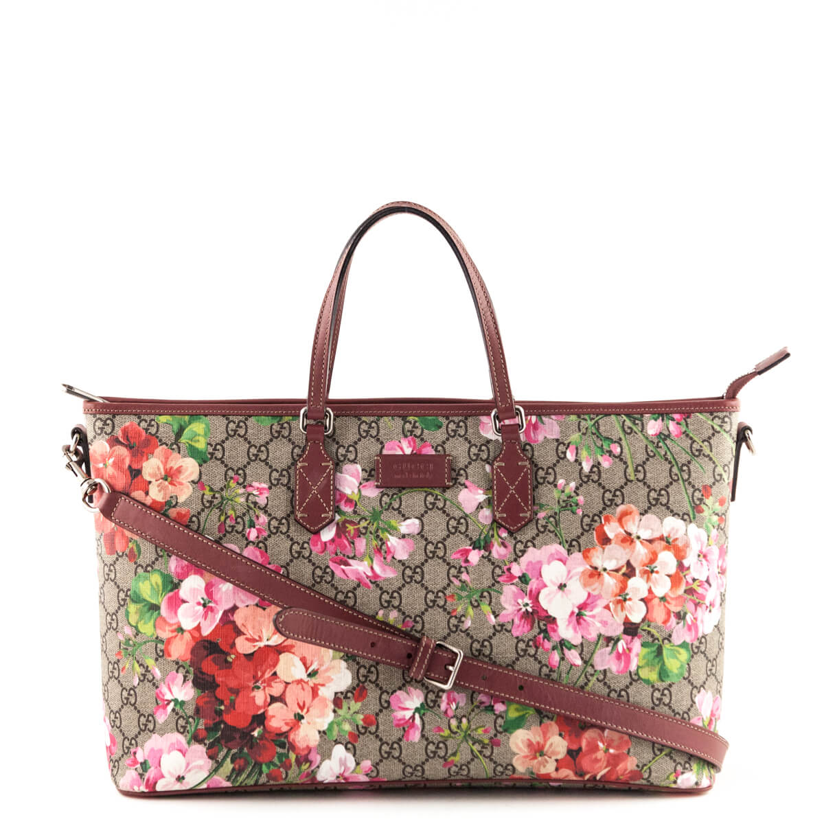 Gucci Antique Rose Monogram Soft GG Blooms Tote - LOVE that BAG - Preowned  Authentic Designer ... 8b7c6ce836416