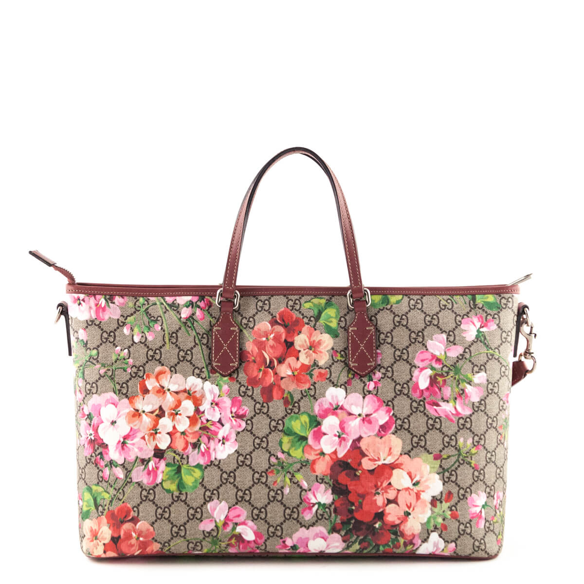 4608d3ec7 ... Gucci Antique Rose Monogram Soft GG Blooms Tote - LOVE that BAG -  Preowned Authentic Designer ...