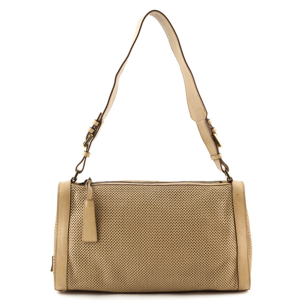 3bd2d562e25e Gucci Beige Perforated Shoulder Bag - LOVE that BAG - Preowned Authentic  Designer Handbags
