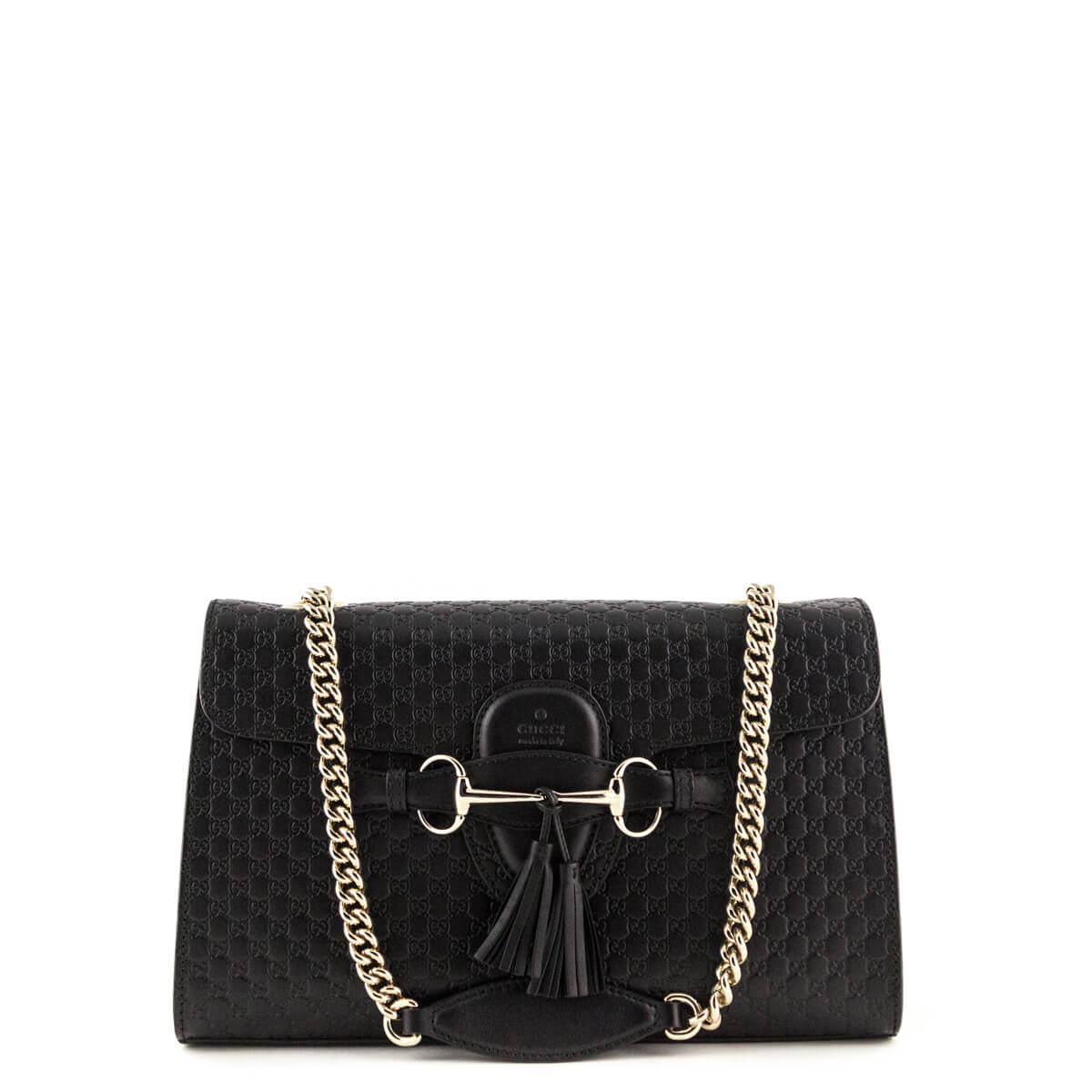 54a047c35864 Gucci Black Emily Guccissima Shoulder Bag - LOVE that BAG - Preowned  Authentic Designer Handbags ...