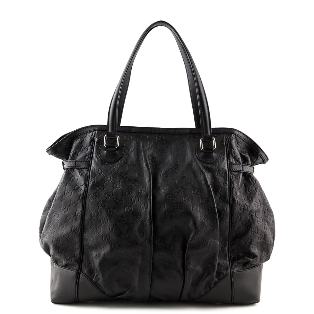 a36cd8297d3b4 Gucci Black Guccissima Large Full Moon Tote - LOVE that BAG - Preowned  Authentic Designer Handbags ...