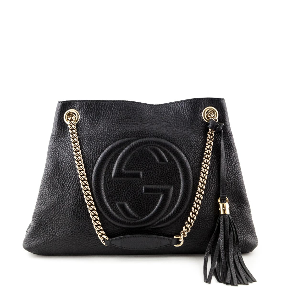 9d0ebf0d7589 Gucci Black Medium Soho Shoulder bag - LOVE that BAG - Preowned Authentic Designer  Handbags ...