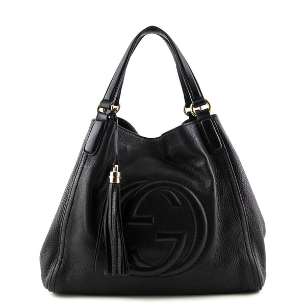 556131d80bb0 Gucci Black Medium Soho Top Handle Bag - LOVE that BAG - Preowned Authentic  Designer Handbags