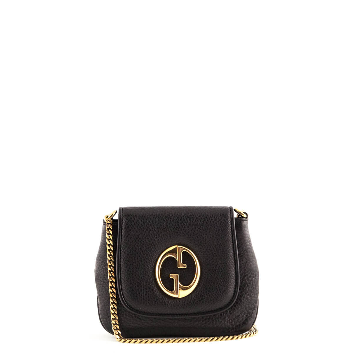 56dcb273e07 Gucci Black Mini 1973 Shoulder Bag - LOVE that BAG - Preowned Authentic Designer  Handbags ...