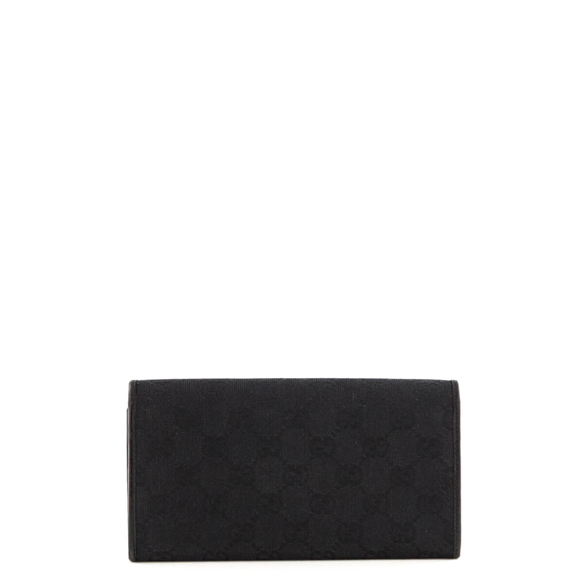 0474a5d20757 ... Gucci Black Monogram Canvas Bamboo Bar Wallet - LOVE that BAG -  Preowned Authentic Designer Handbags ...