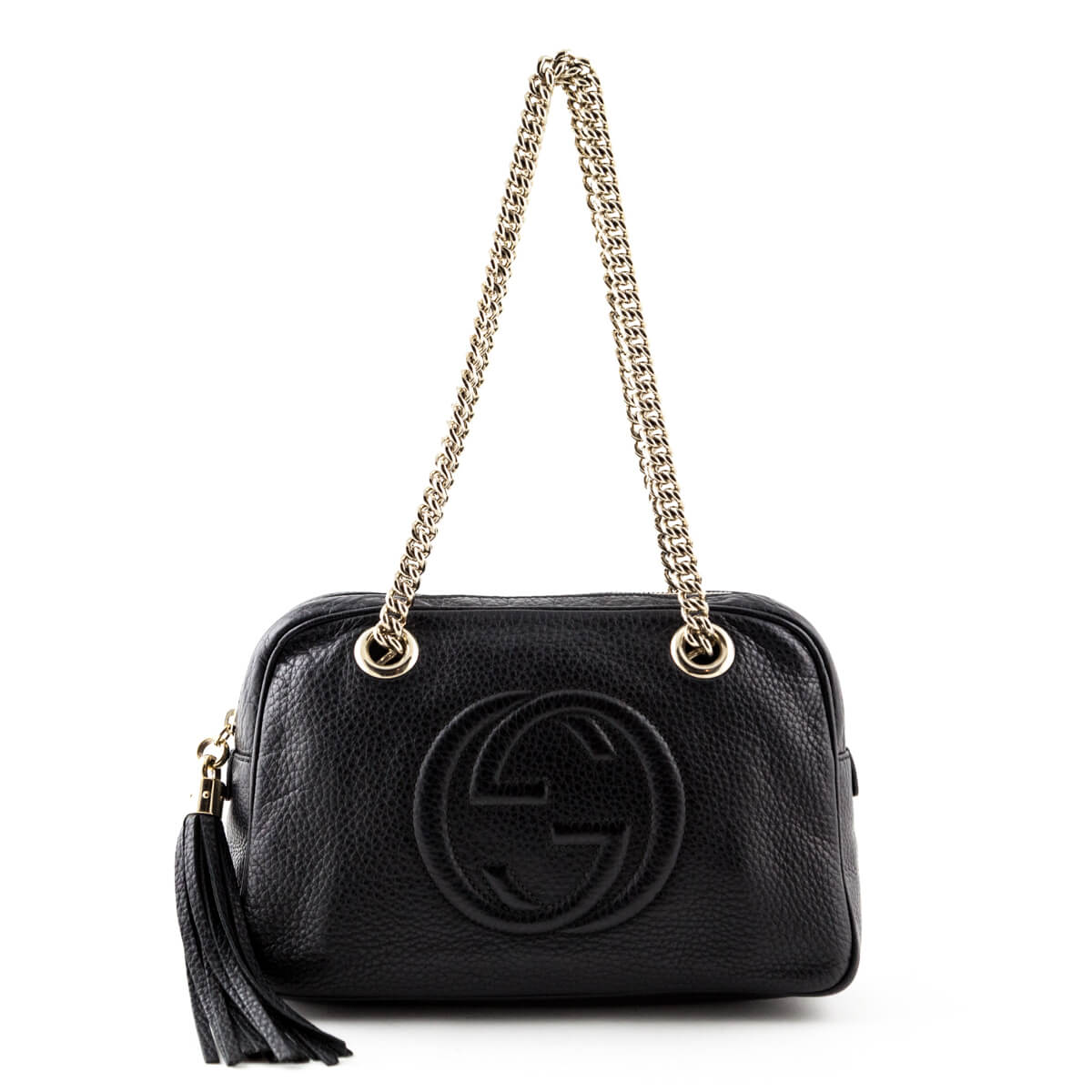 Gucci Black Small Soho Chain Shoulder bag - Secondhand ...