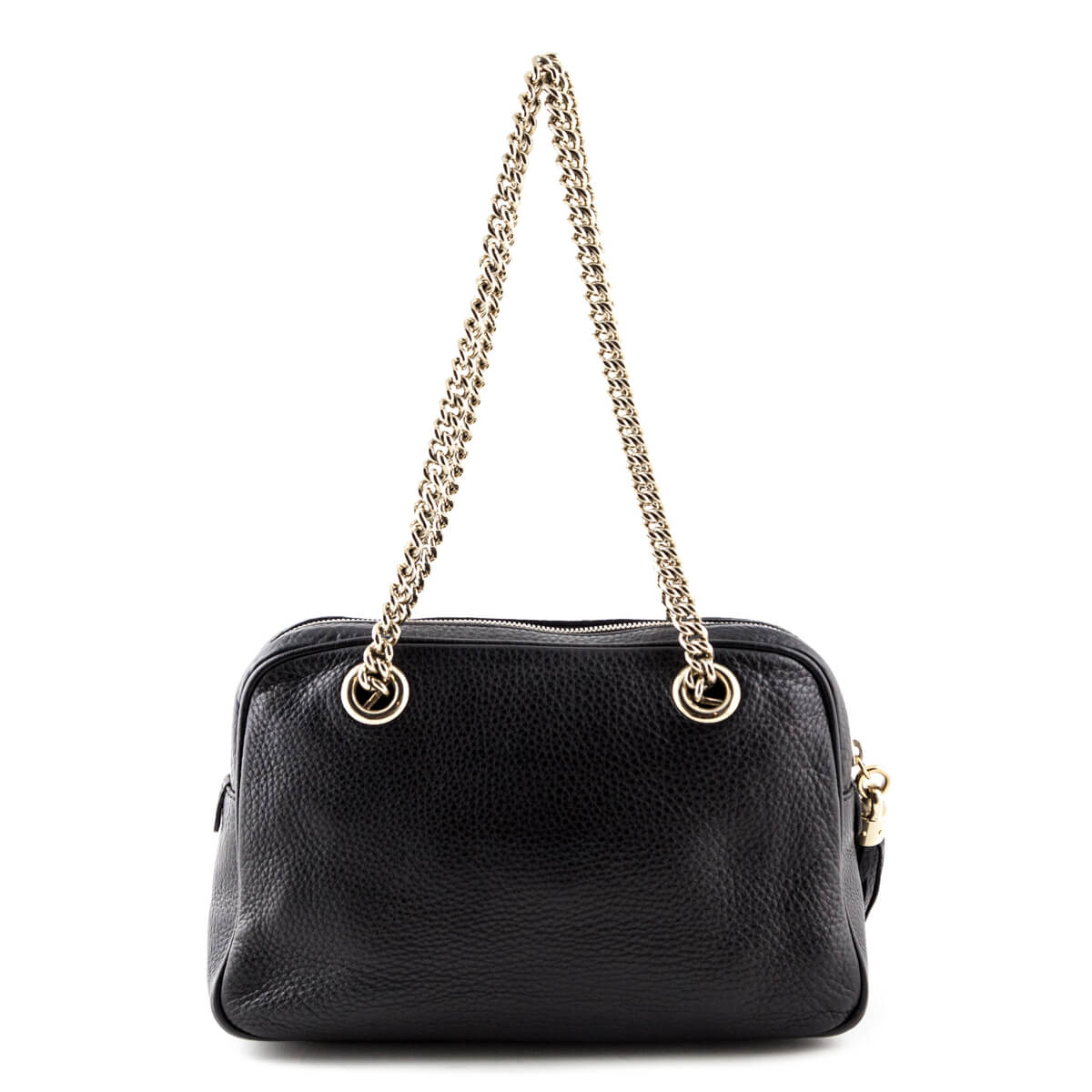6635ac544ab ... Gucci Black Small Soho Chain Shoulder bag - LOVE that BAG - Preowned  Authentic Designer Handbags ...