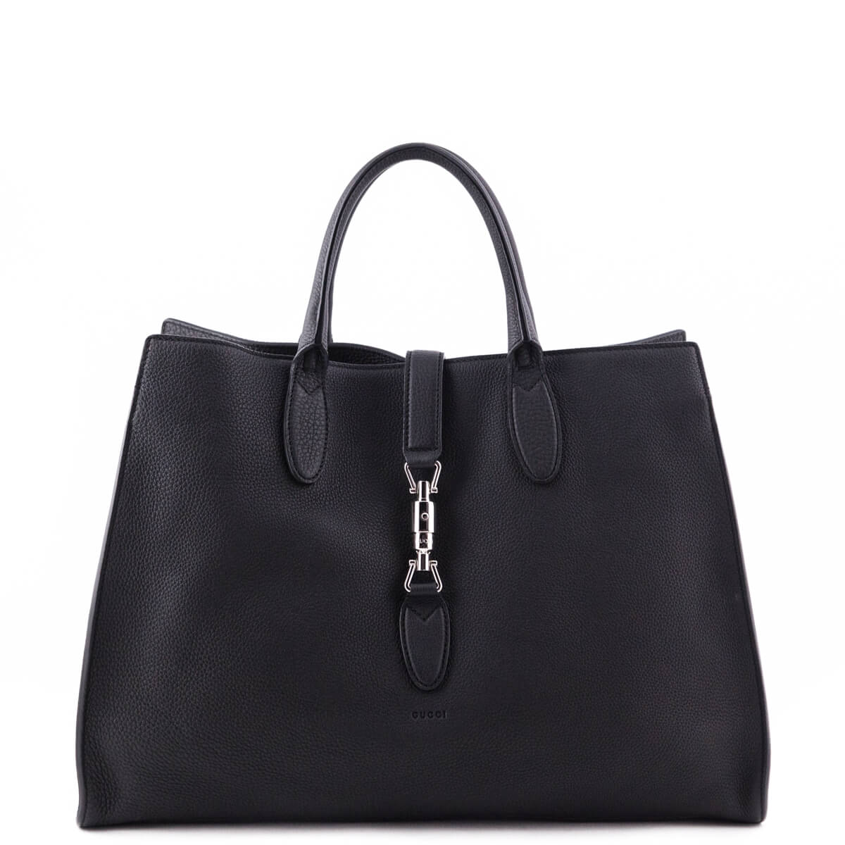 f2a094ec175a73 Gucci Black Soft Leather Large Jackie Top Handle Bag - LOVE that BAG -  Preowned Authentic ...