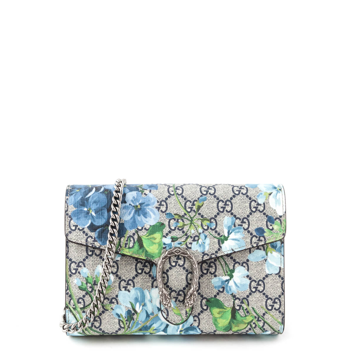 ee6cf61ccfa Gucci Blue GG Blooms Dionysus Wallet On Chain - LOVE that BAG - Preowned  Authentic Designer ...