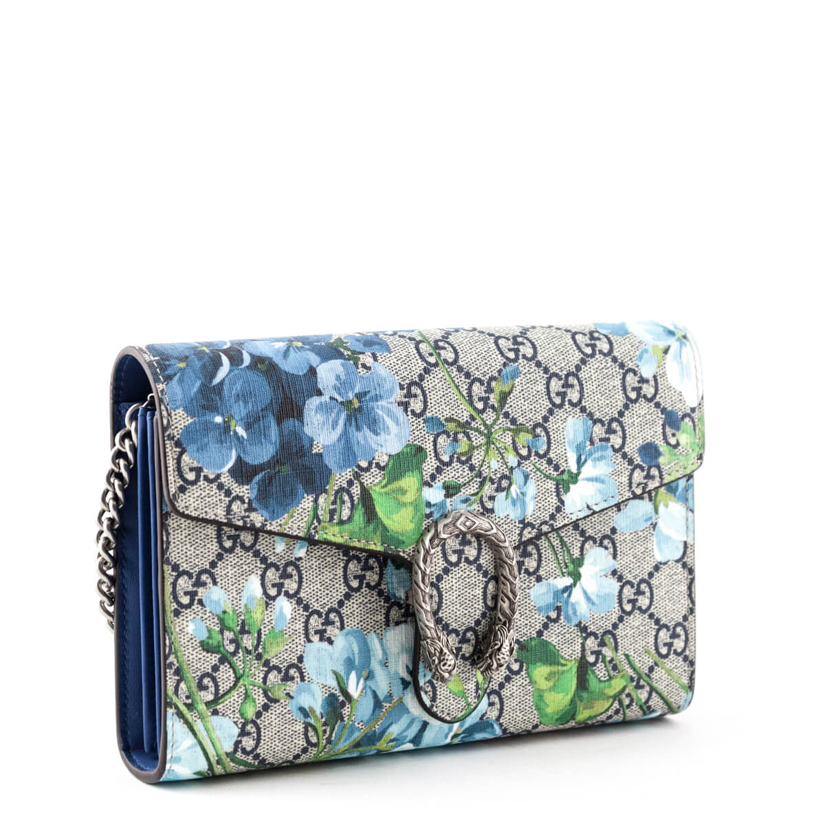 d973984cc35 ... Gucci Blue GG Blooms Dionysus Wallet On Chain - LOVE that BAG -  Preowned Authentic Designer ...