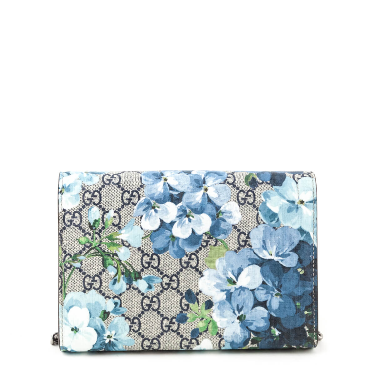 780a3108115897 ... Gucci Blue GG Blooms Dionysus Wallet On Chain - LOVE that BAG -  Preowned Authentic Designer ...