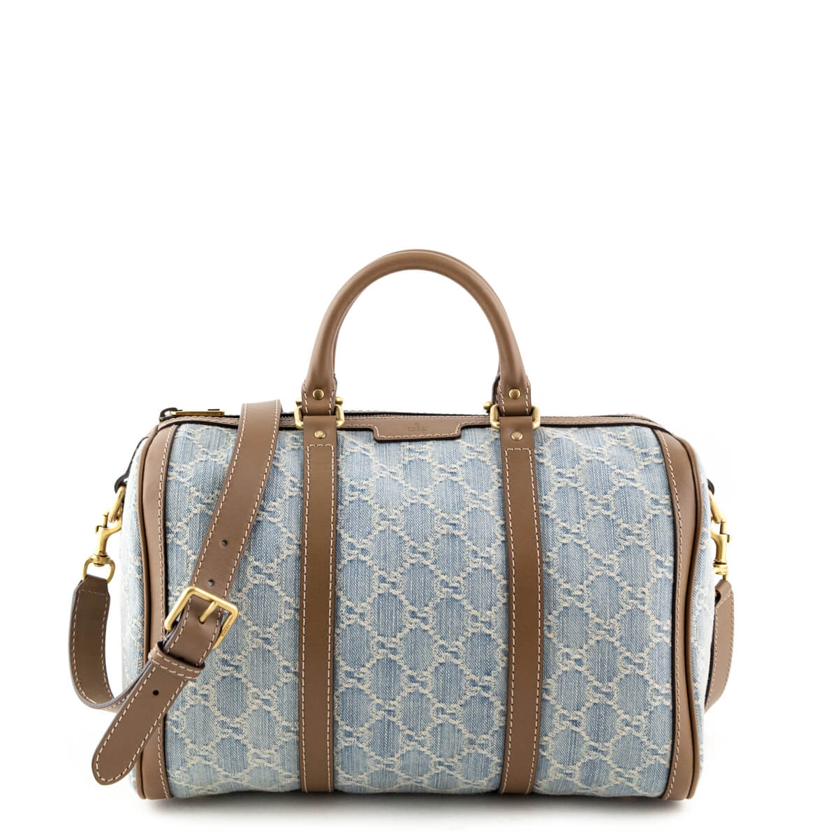 526cf64f9d9bff Gucci Blue GG Denim Web Boston Bag - LOVE that BAG - Preowned Authentic  Designer Handbags ...