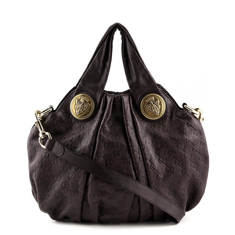 Gucci Brown Guccissima Small Hysteria Hobo 3b40efa07237f