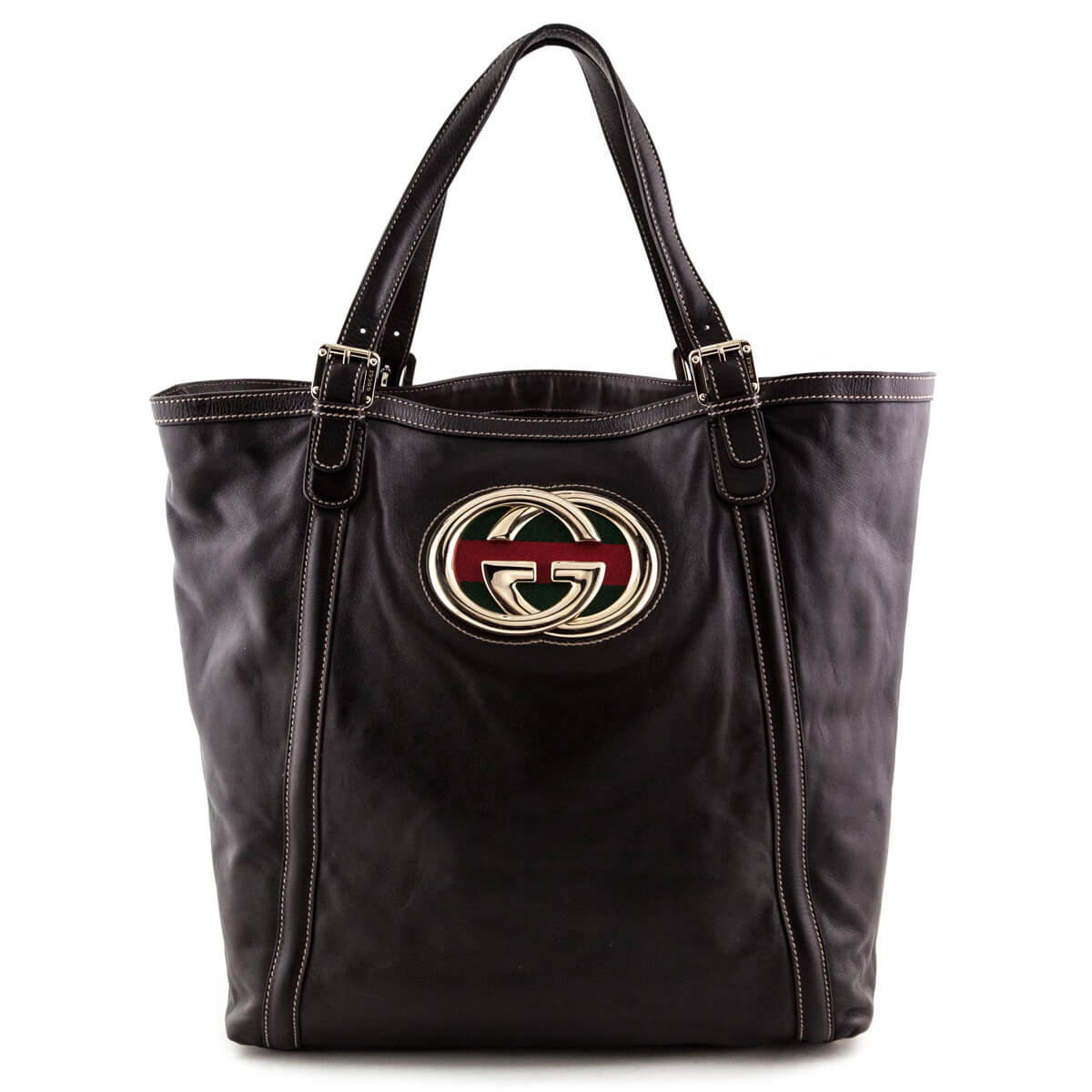 c9a1932d41a Gucci Brown Large Britt Tote - LOVE that BAG - Preowned Authentic Designer  Handbags ...