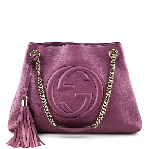 Gucci Dusty Rose Soho Chain Shoulder Bag