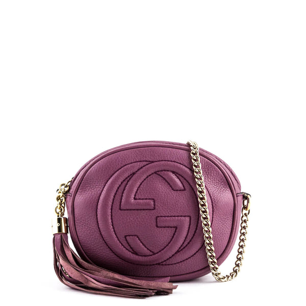 26f9c773ccde Gucci Dusty Rose Mini Soho Chain Bag - LOVE that BAG - Preowned Authentic  Designer Handbags
