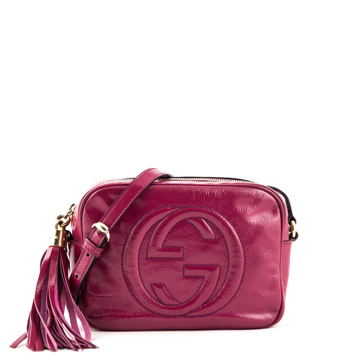 Gucci Fuschia Patent Soho Disco - LOVE that BAG - Preowned Authentic Designer  Handbags ... c1c777385bb90