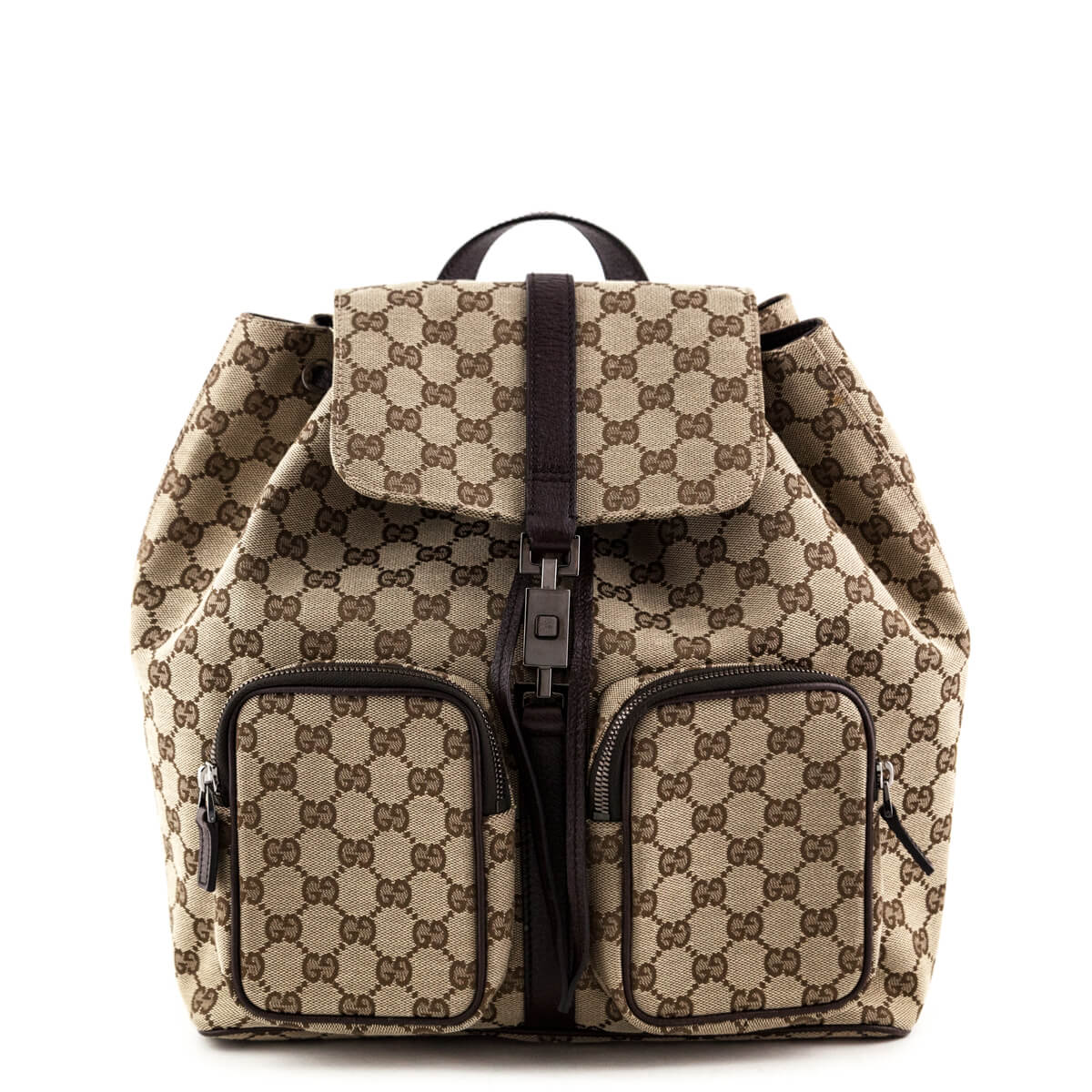 83dfa241bdb94a Gucci GG Canvas Abbey Backpack - LOVE that BAG - Preowned Authentic  Designer Handbags ...