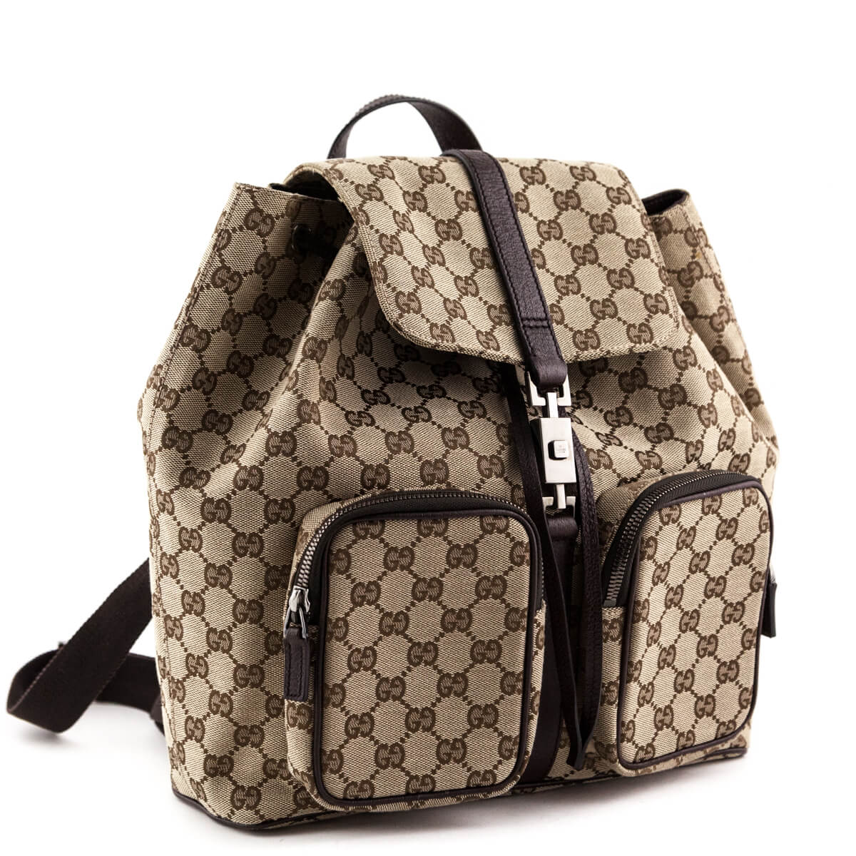 839d4d98b ... Gucci GG Canvas Abbey Backpack - LOVE that BAG - Preowned Authentic  Designer Handbags ...