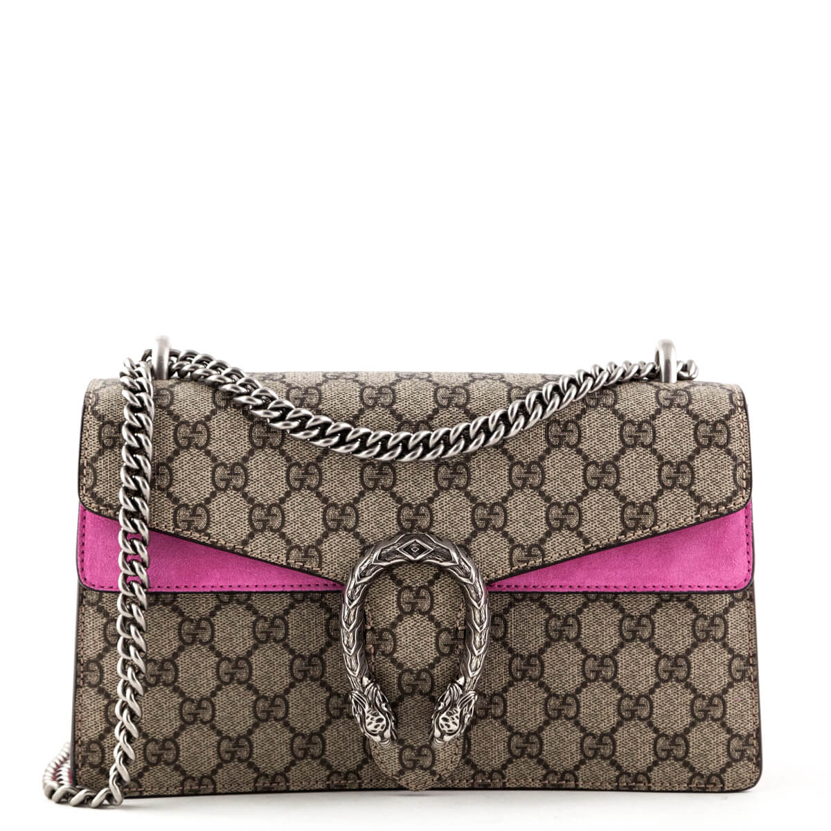 0fa804c6d47 Gucci GG Canvas Pink Suede Small Dionysus Bag - LOVE that BAG - Preowned  Authentic Designer ...