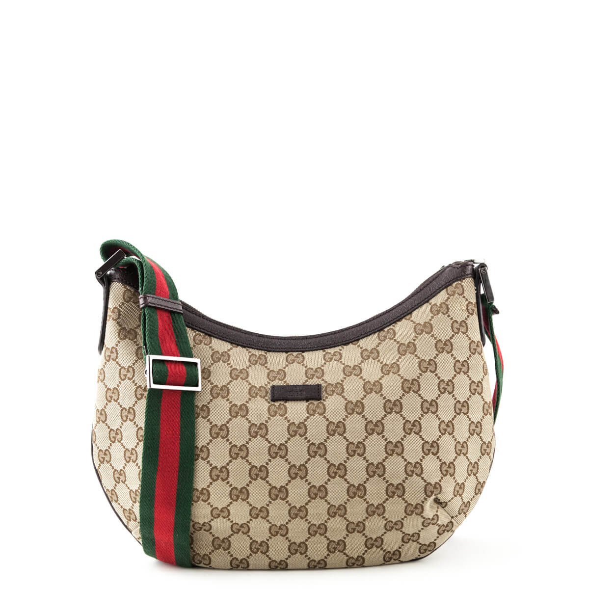 ecc42b1d0a Gucci GG Monogram Canvas Web Messenger Bag - LOVE that BAG - Preowned  Authentic Designer Handbags ...