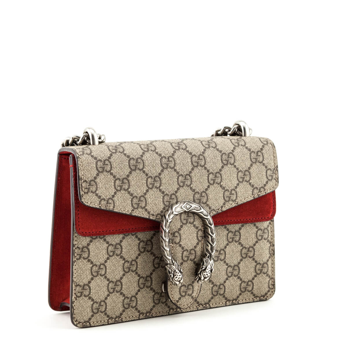 39415660 ... Gucci GG Supreme Red Suede Mini Dionysus Bag - LOVE that BAG - Preowned  Authentic Designer ...