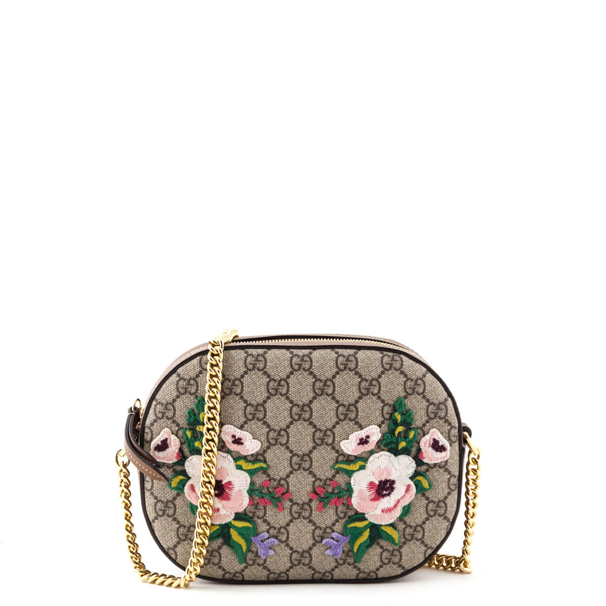 eededaca74f8 Gucci Monogram Garden GG Embroidered Mini Chain Bag - LOVE that BAG -  Preowned Authentic Designer ...