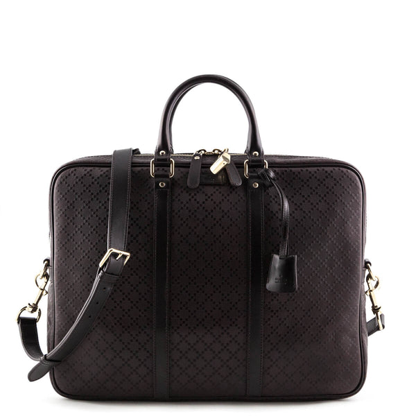 01a73c52de14 MCM Navy Visetos Dieter Backpack  337.00 USD. Gucci Men s Brown Bright  Diamante Leather Briefcase - LOVE that BAG - Preowned Authentic Designer  Handbags