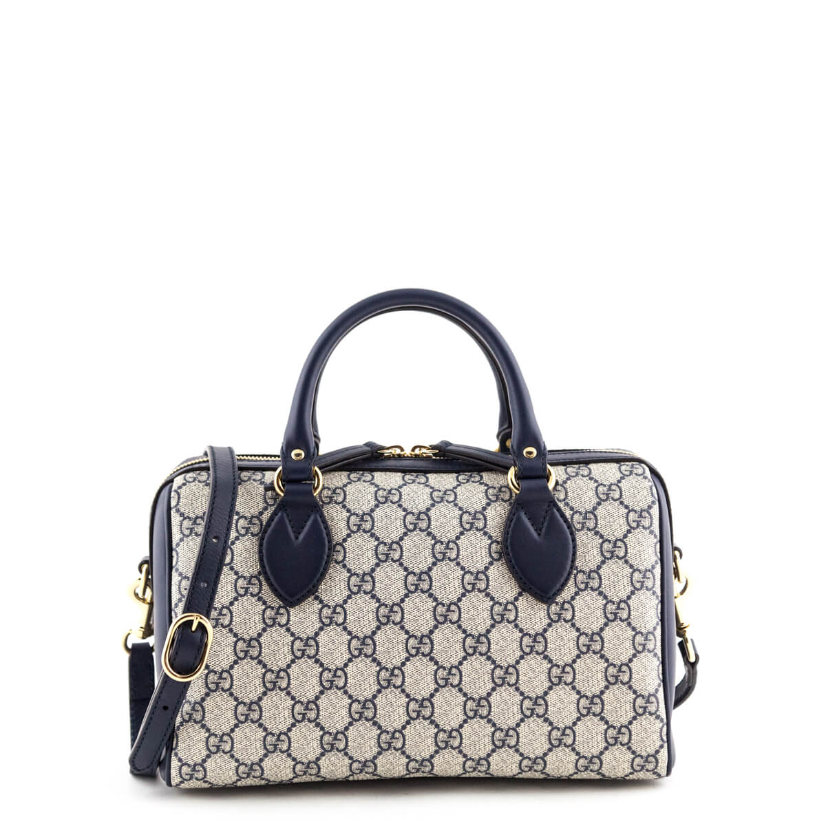 dfef4fb5bc1 Gucci Navy GG Supreme Small Top Handle Bag - LOVE that BAG - Preowned  Authentic Designer ...