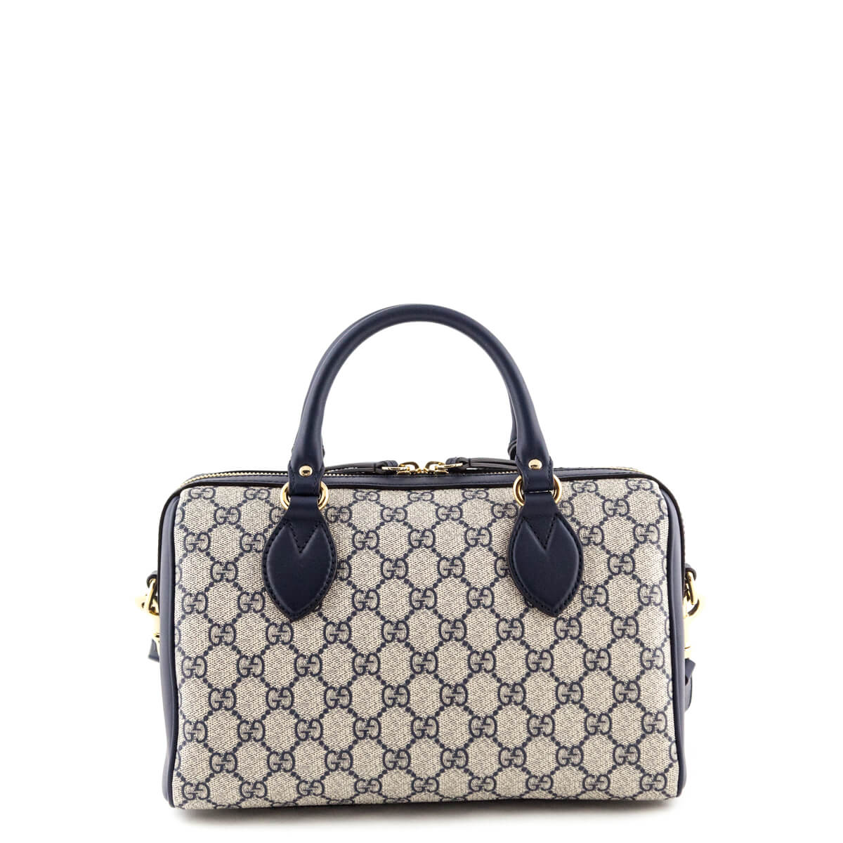 3deda12c18c1a7 ... Gucci Navy GG Supreme Small Top Handle Bag - LOVE that BAG - Preowned  Authentic Designer ...