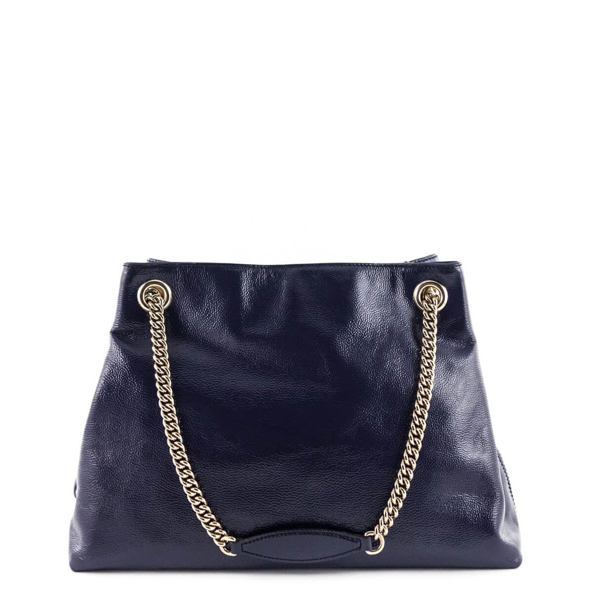 e5692801e8a ... Gucci Navy Patent Leather Medium Soho Shoulder Bag - LOVE that BAG - Preowned  Authentic Designer ...