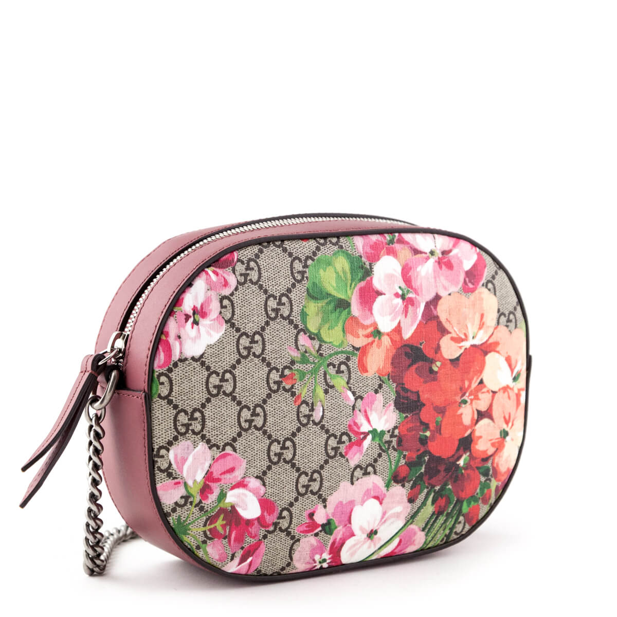07681076108a ... Gucci Pink GG Blooms Mini Chain Bag - LOVE that BAG - Preowned Authentic  Designer Handbags ...