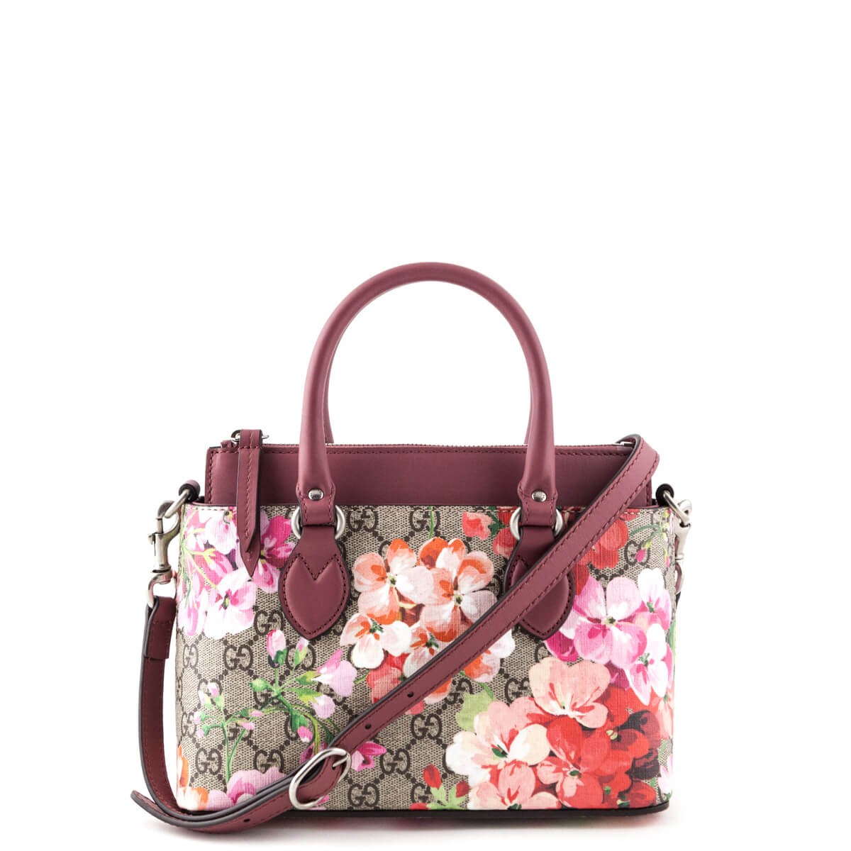 d918b9d71b3b Gucci Pink GG Blooms Mini Linea Convertible Tote - LOVE that BAG - Preowned  Authentic Designer ...